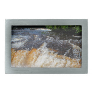 Tahquamenon Lower Falls II Rectangular Belt Buckles