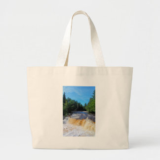 Tahquamenon Lower Falls III Large Tote Bag