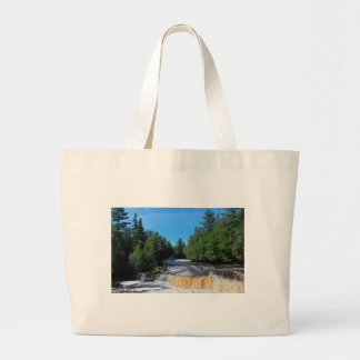 Tahquamenon Lower Falls IV Large Tote Bag