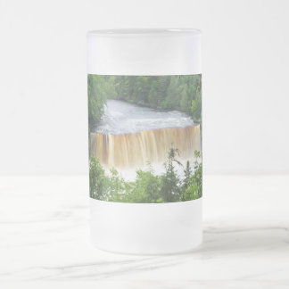 Tahquamenon Upper Falls Frosted Glass Beer Mug