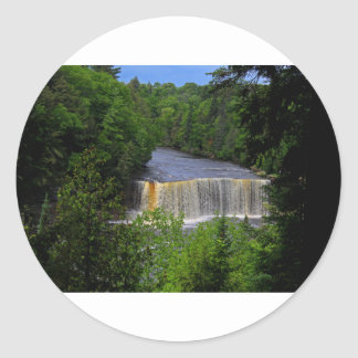 Tahquamenon Upper Falls IV Round Sticker