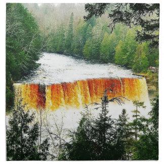 Tahquamenon Upper Falls Upper Peninsula Michigan Napkin