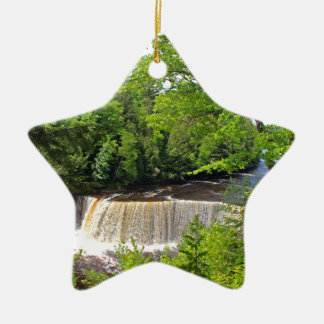 Tahquamenon Upper Falls VI Ceramic Star Ornament