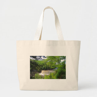 Tahquamenon Upper Falls VI Large Tote Bag