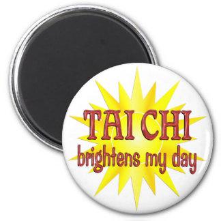 Tai Chi Brightens My Day 2 Inch Round Magnet