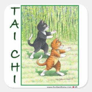 Tai Chi Cats Sticker Bud & Tony