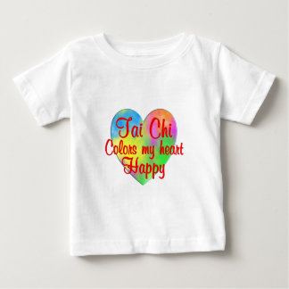 Tai Chi Colors My Heart Happy Baby T-Shirt