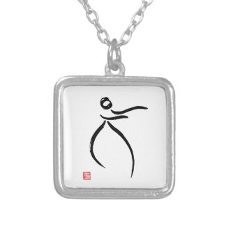 Tai Chi Flow Silver Plated Necklace