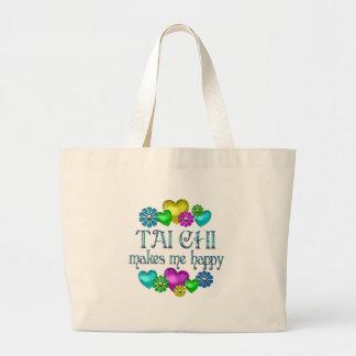 Tai Chi Happiness Large Tote Bag