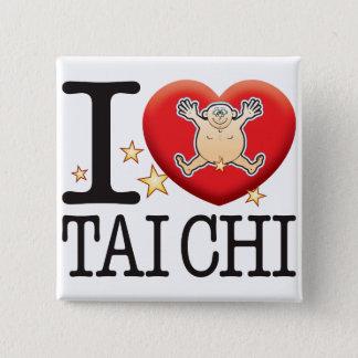 Tai Chi Love Man 2 Inch Square Button