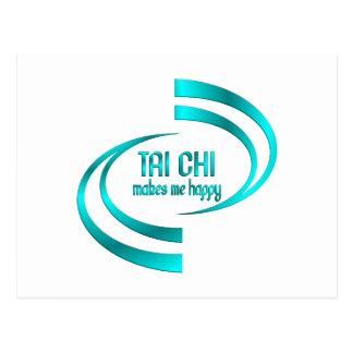 Tai Chi Makes Me Happy Postcard