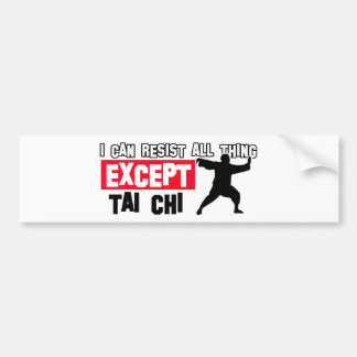 Tai chi martial design bumper sticker