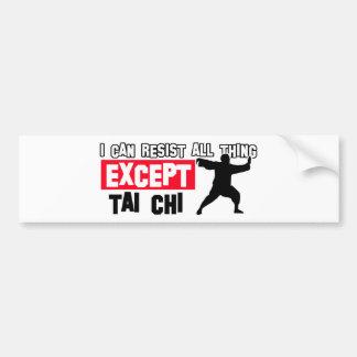Tai chi martial design bumper stickers