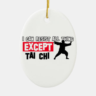 Tai chi martial design ceramic ornament