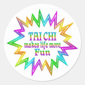Tai Chi More Fun Classic Round Sticker