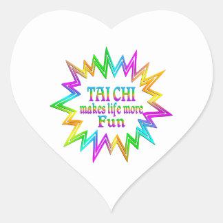 Tai Chi More Fun Heart Sticker