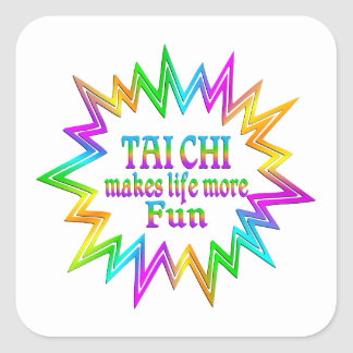 Tai Chi More Fun Square Sticker
