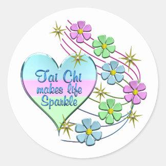 Tai Chi Sparkles Classic Round Sticker