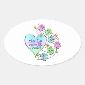 Tai Chi Sparkles Oval Sticker