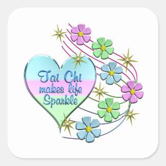 Tai Chi Sparkles Square Sticker