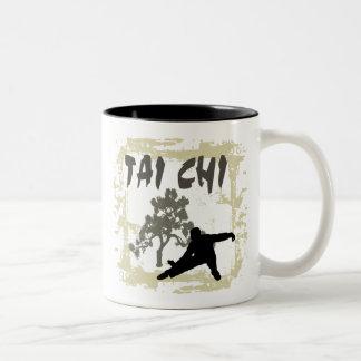 TAI CHI T-Shirts Two-Tone Coffee Mug