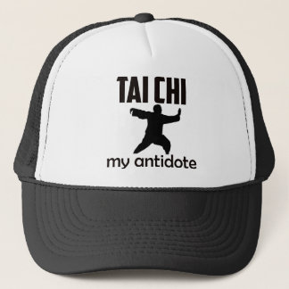 Taichi design trucker hat