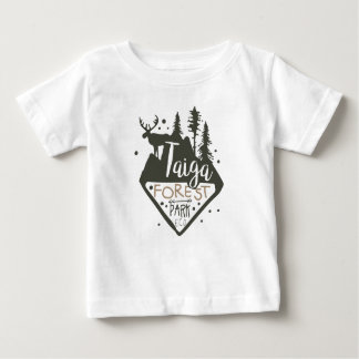 Taiga forest eco park promo sign baby T-Shirt