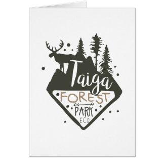 Taiga forest eco park promo sign card
