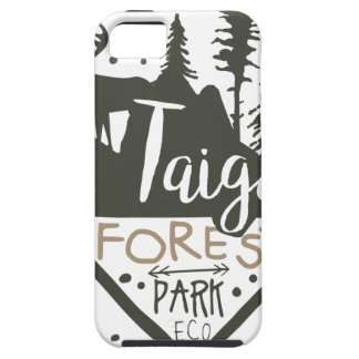 Taiga forest eco park promo sign iPhone 5 cover