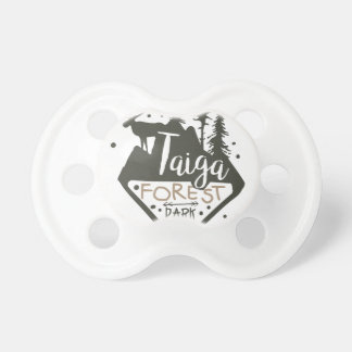 Taiga forest eco park promo sign pacifier