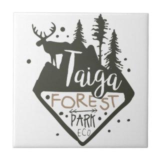 Taiga forest eco park promo sign tile