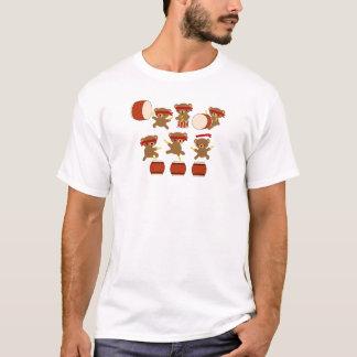 Taiko Gifts Kawaii Bears Taiko Drums Cute Drumming T-Shirt
