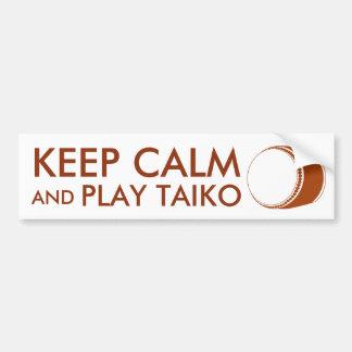 Taiko Gifts Keep Calm and Play Taiko Drum Custom Bumper Sticker