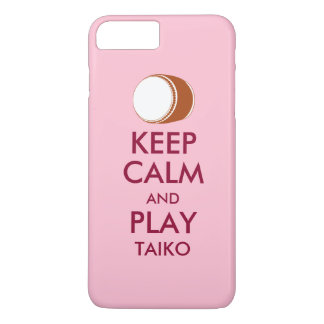 Taiko Gifts Keep Calm and Play Taiko Drum Custom iPhone 8 Plus/7 Plus Case