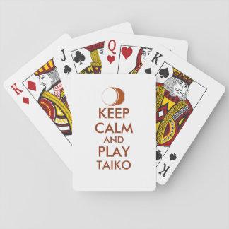 Taiko Gifts Keep Calm and Play Taiko Drum Custom Playing Cards