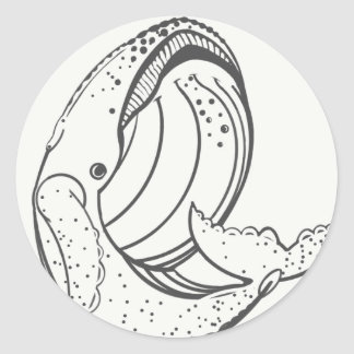 Tail of a Whale Classic Round Sticker