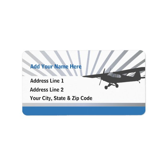 Taildragger Airplane Label