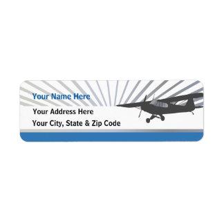 Taildragger Airplane Return Address Label