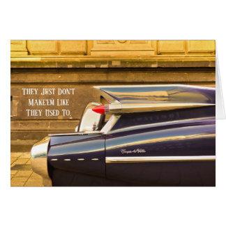 Tailfin Classic Car Cadillac Birthday Card