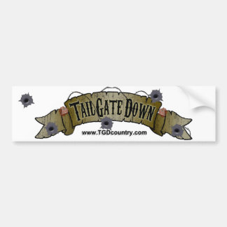 Tailgate Down Bumper Sticker
