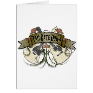 Tailgate Down Merchandise Greeting Card