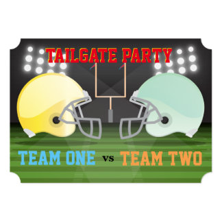 Tailgate Football Helmets USA Ribs Wings Party 5 Card
