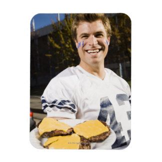 tailgate party before a football game 2 rectangular photo magnet