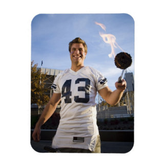 tailgate party before a football game rectangular photo magnet