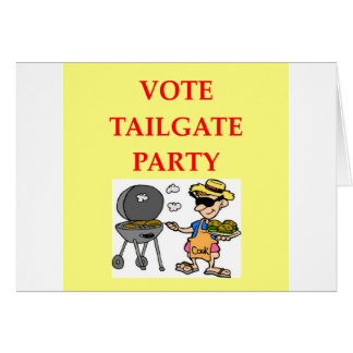 tailgate party greeting cards