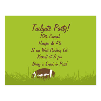 Tailgate Party Invitation Postcard