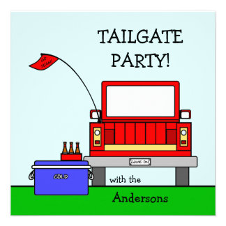 Tailgate Party Truck Invite