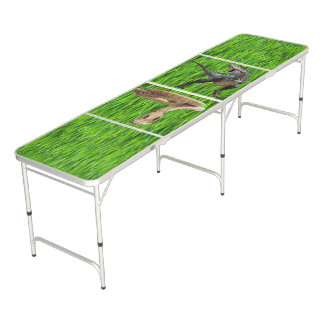 Tailgate Size Pong Table T-REX vs. COBRA on GRASS