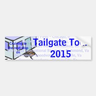 Tailgate Tour 2015 Bumper Sticker Car Bumper Sticker