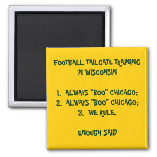 TAILGATE TRAINING IN WISCONSIN SQUARE MAGNET